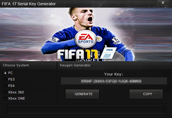 FIFA 17 Serial Key Generator (PC,PS 3,4 & Xbox 360/ONE | New
