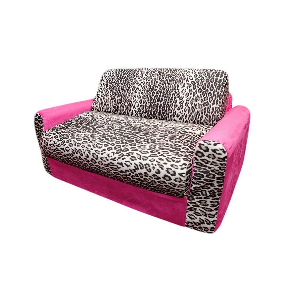 Flexsteel Sofa Fun Furnishings Animal Print Sleeper Sofa Kids Multicolor