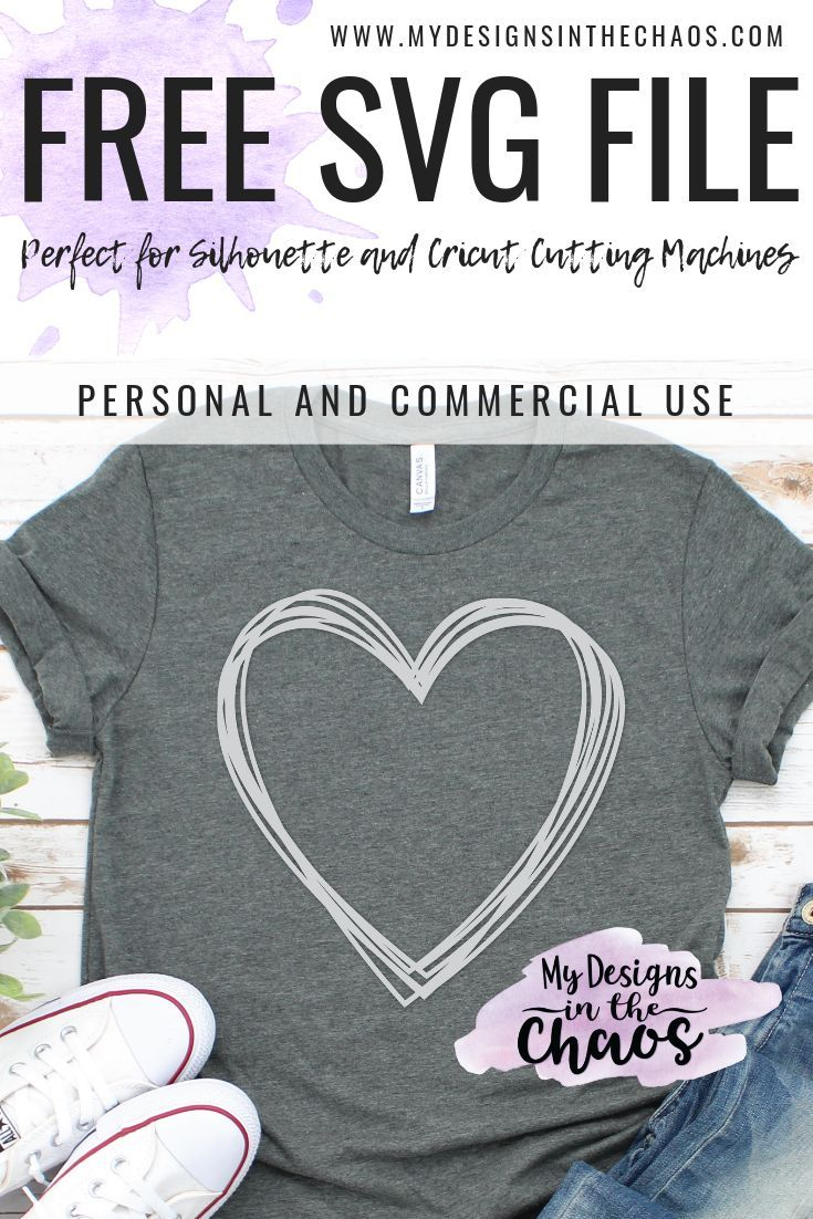 5 Free Heart SVG Files - My Designs In the Chaos #cricutcrafts