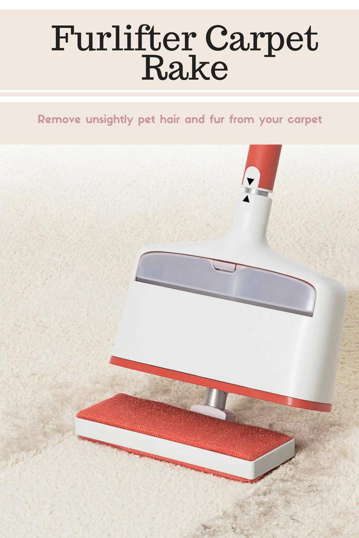 Oxo Good Grips Furlifter Carpet Rake In White Red