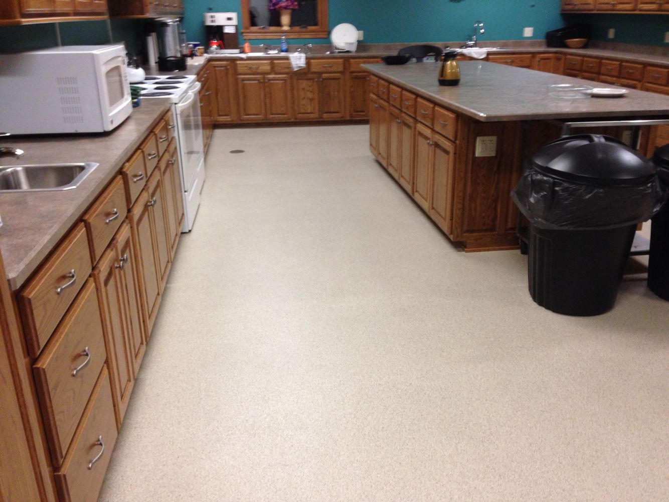 Epoxy Chip Kitchen Floor Installed By Re Deck Of Northwest Ohio