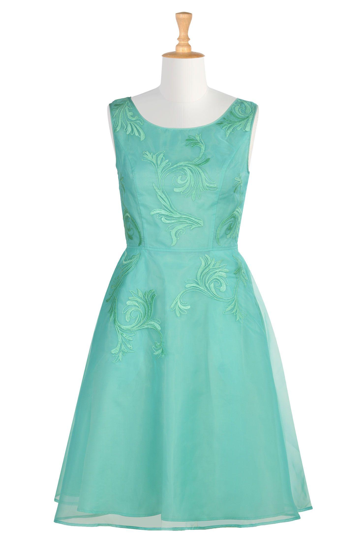 Joy dress | Embellished bridesmaid dress, Organza dress and Designer ...