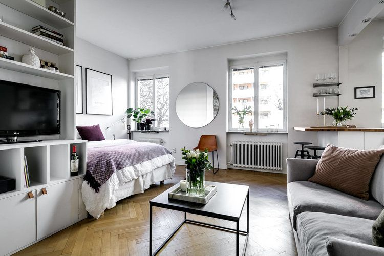 Cozy One Room Apartment In Perfect Style Apartment Room One Room Flat One Bedroom Apartment