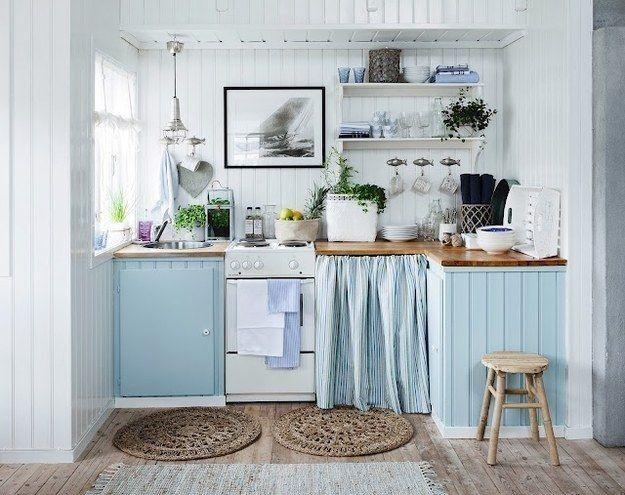 Arredare una cucina al mare - Azzurro pastello | Pastello, Cucina ...