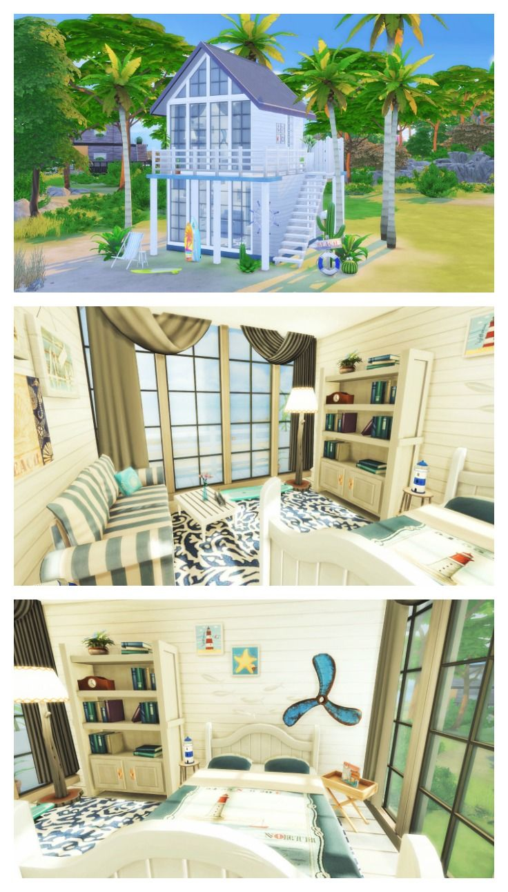 the sims 4 speed build tiny beach house cc list sims. Black Bedroom Furniture Sets. Home Design Ideas