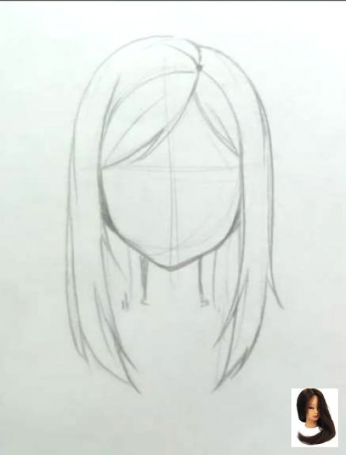 Hairstyle Anime Female Hairstyle Anime Girl Hair Drawing How To Draw Hair Easy Hair Drawings