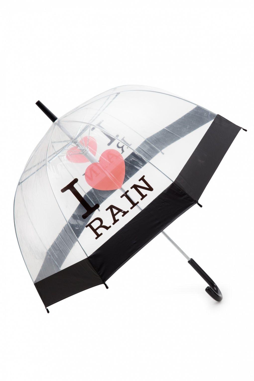 50s I Love Rain Transparent Dome Umbrella I Love Rain Umbrella Dome Umbrella