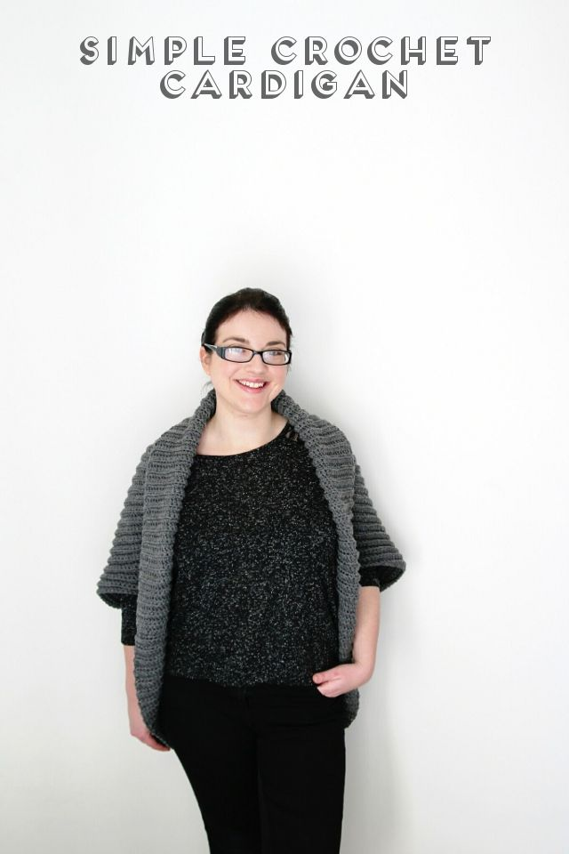 SIMPLE CROCHET CARDIGAN. | Perfecta, Chaqueta de ganchillo y Patrones