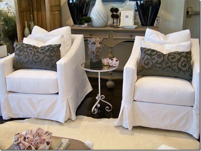 Whatu0027s New Wednesday: Cisco Brothers Slipcovered Swivel Chairs