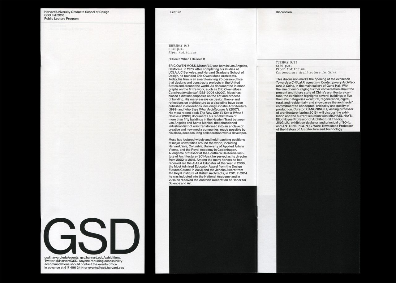 GSD Harvard Contemporary graphic design, Speculative