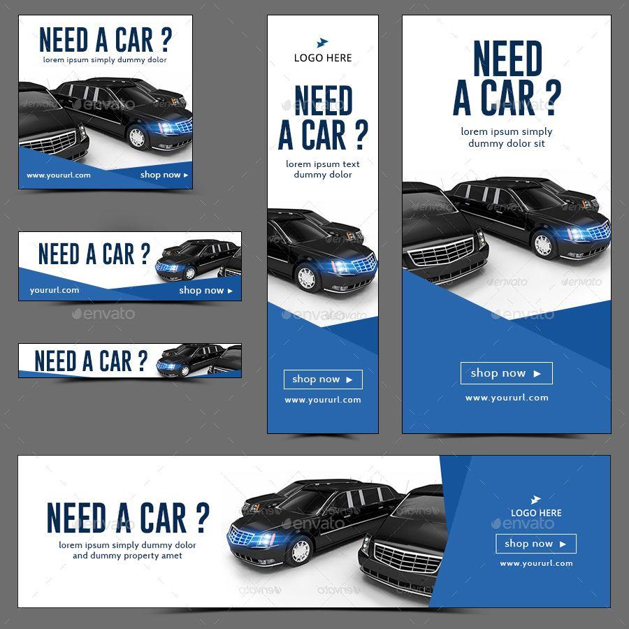 Car Dealership And Rental Web Banner Set Bundle Over 50 Sets 842 Banners Updated Banner Ads Design Web Banner Design Web Banner