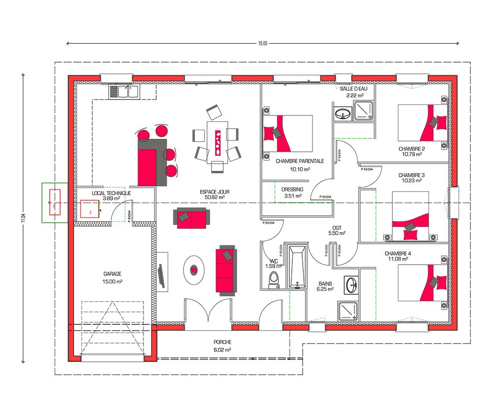 20 Idees De Plan Maison 120m2 Plan Maison 120m2 Plan Maison Maison