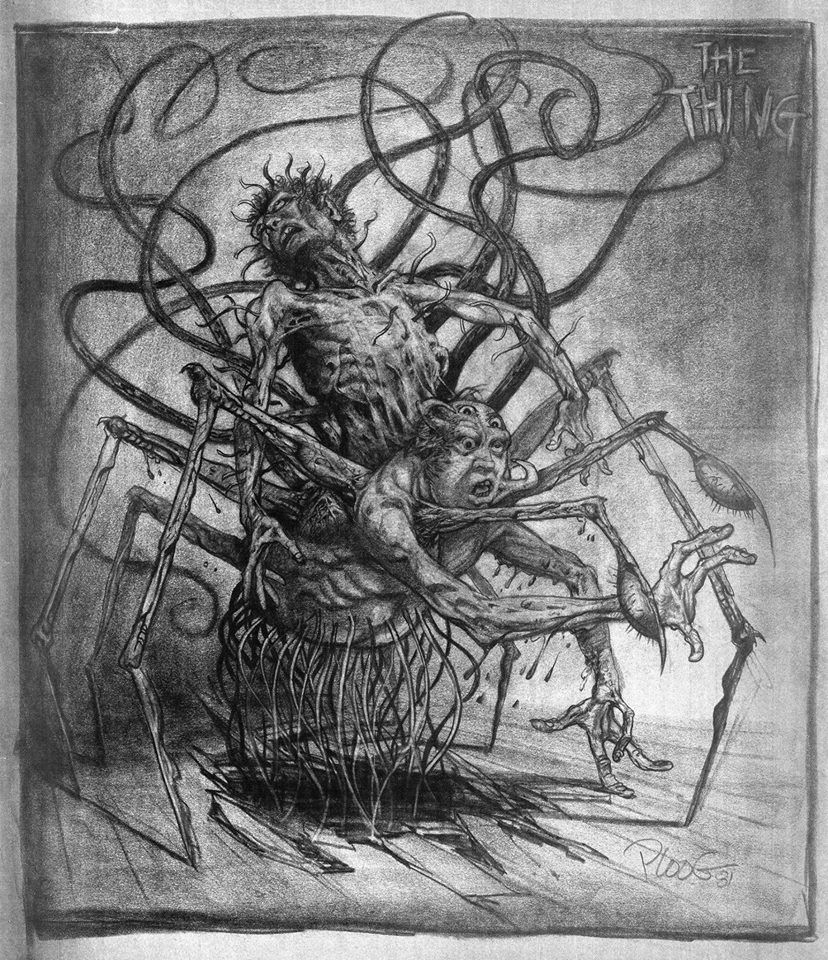 'The Thing' (1982): Early Concept Art By Mike Ploog For