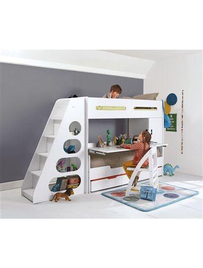 Lit mezzanine enfant pour combiné évolutif COMBIBED BLANC ...