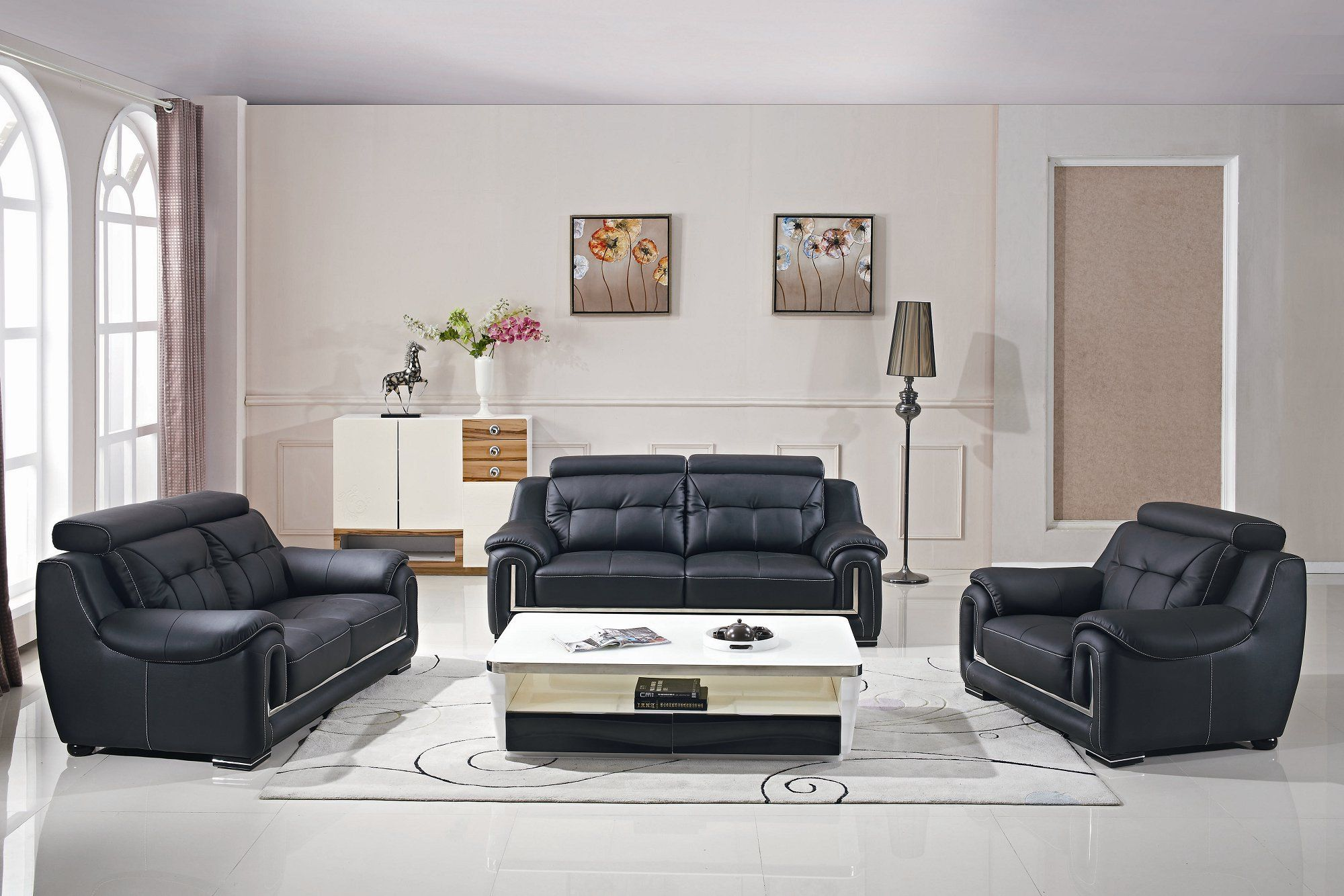 Millennial Living Room Collection Leather Living Room Set Home