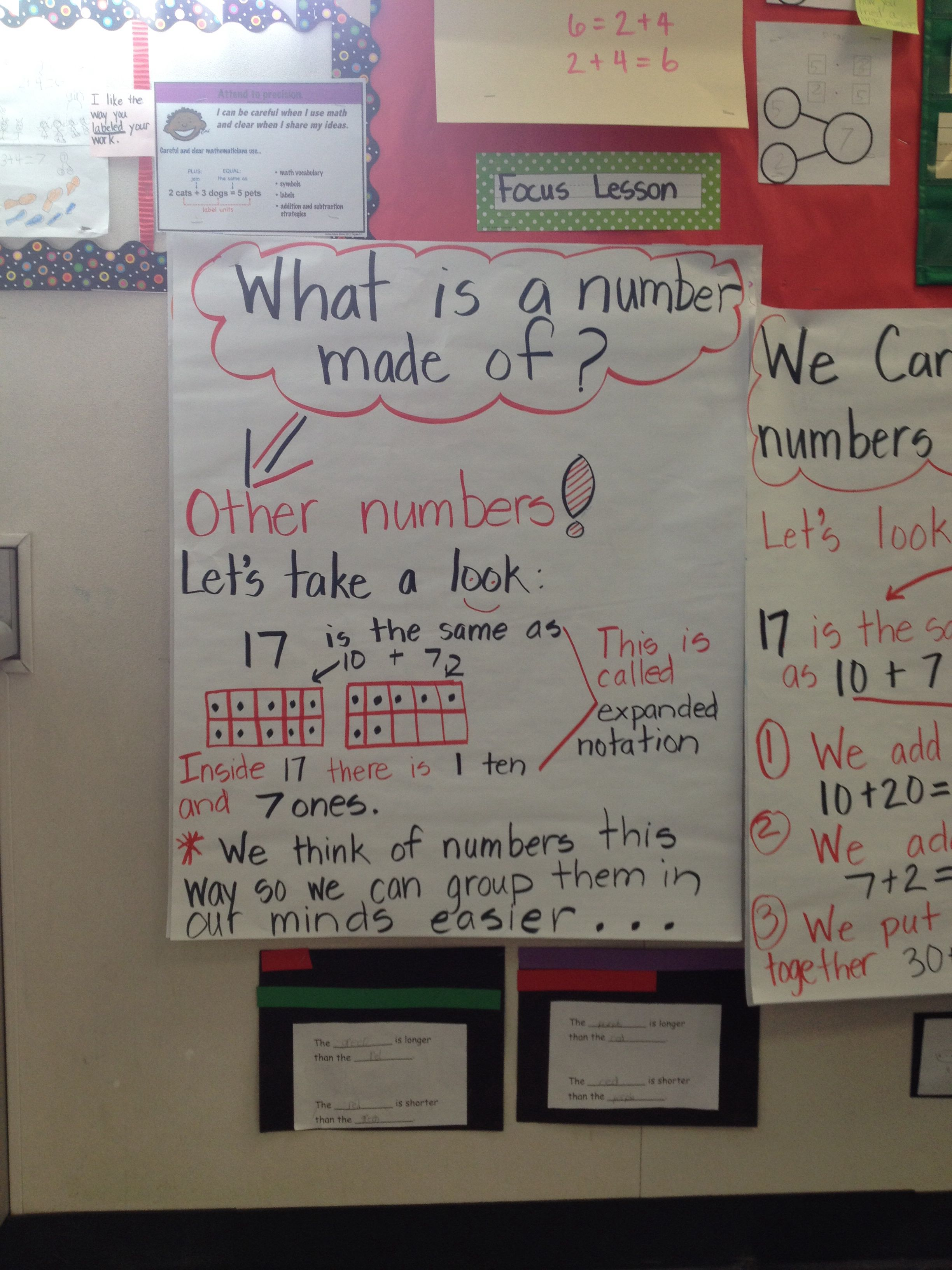 Place Value First Grade Expanded Notation Composition Of