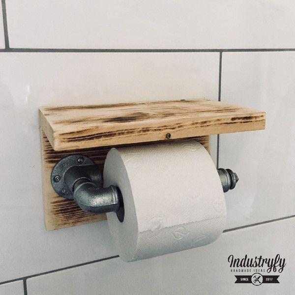 bad accessoires toilettenpapierhalter im industrial. Black Bedroom Furniture Sets. Home Design Ideas