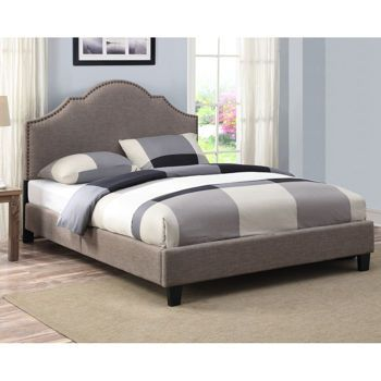Upholstered Queen Bed Amazoncom Manhattan Queen Bed Frame Modern Style Low Profile Headboard