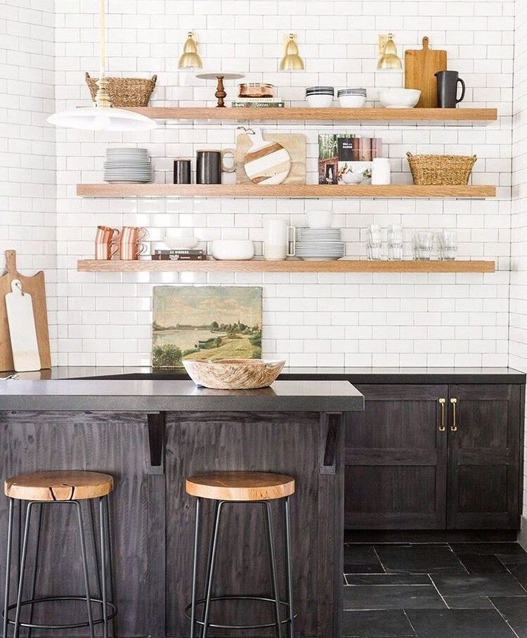 Floating Shelves Kitchen Cabinets: College Housewife On Kitchen