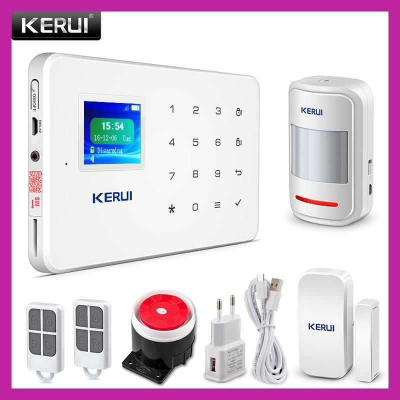 Kerui G18 Tft Touch Gsm Alarm Wireless Ios Android App Control Home Burglar Secur Home Security Alarm System Home Security Alarm Wireless Home Security Systems