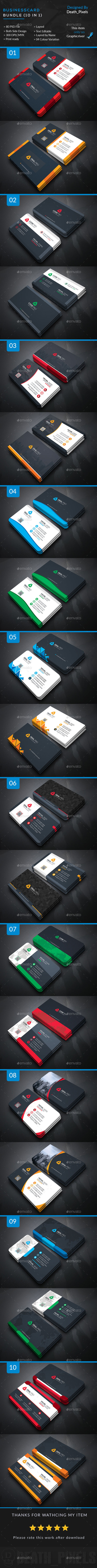 10 business cards templates psd download here httpgraphicriver business card bundle in business cards print templates fbccfo Gallery