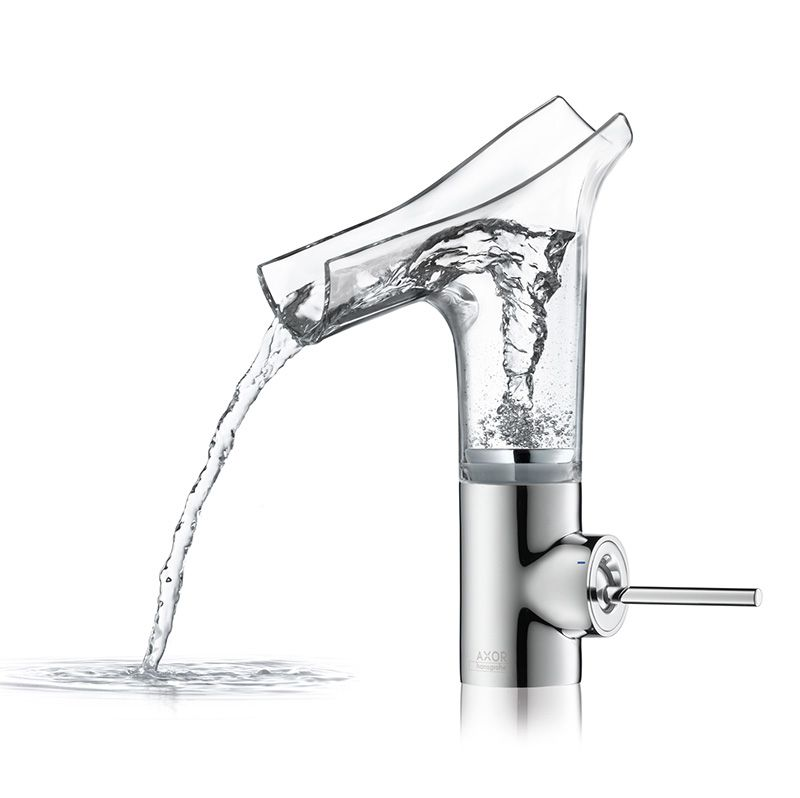 Astonishing Faucet with Clear Glass Spout: Axor Stark V | Faucet ...