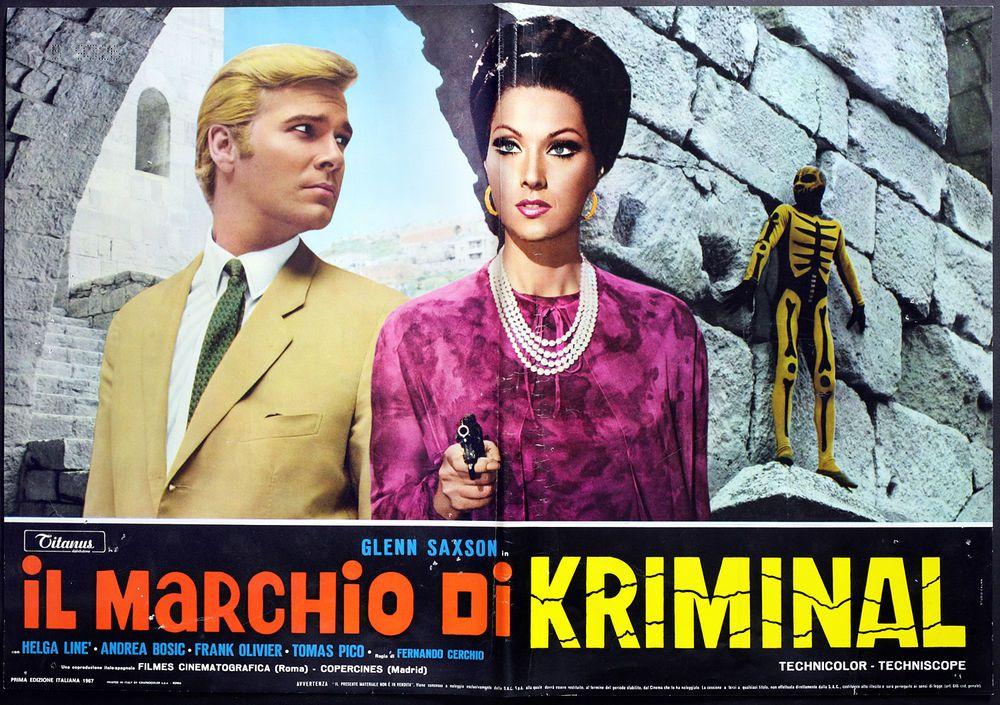 CINEMA-fotobusta IL MARCHIO DI KRIMINAL saxson, CERCHIO