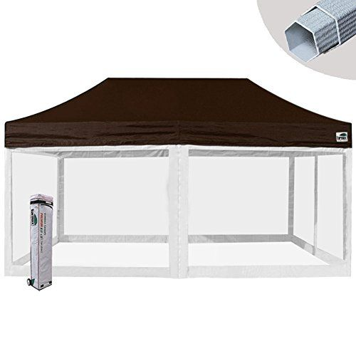 Eurmax Premium 10x20 Ez Pop Up Tent Screen Room Commercial Canopy Portable Gazebo With 4 Removable Screen Mesh Wal Commercial Canopy Portable Gazebo Party Tent