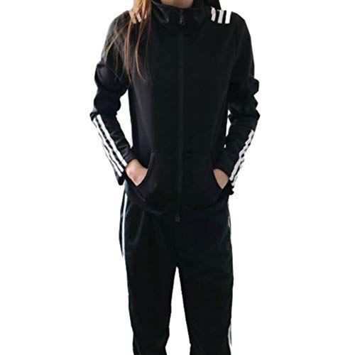 Femmes Printemps Automne Costumes Sport Manches Longues Glissière Vestes  Taille Élastique Pantalon Long Ensembles Sportwear Dames aab02ac0a12