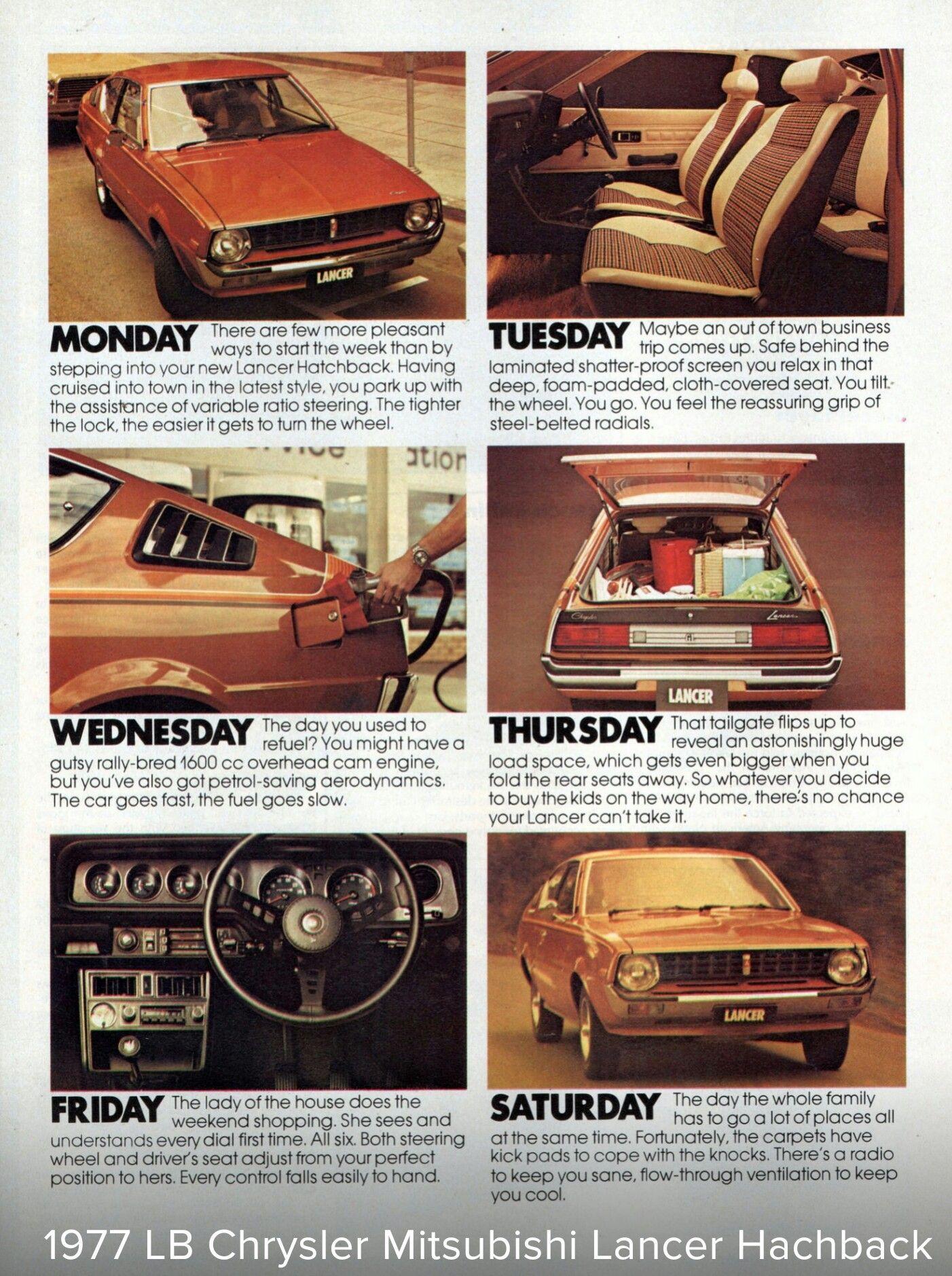 1977 LB Chrysler (Mitsubishi) Lancer Hatchback - Australia, Page ONE ...
