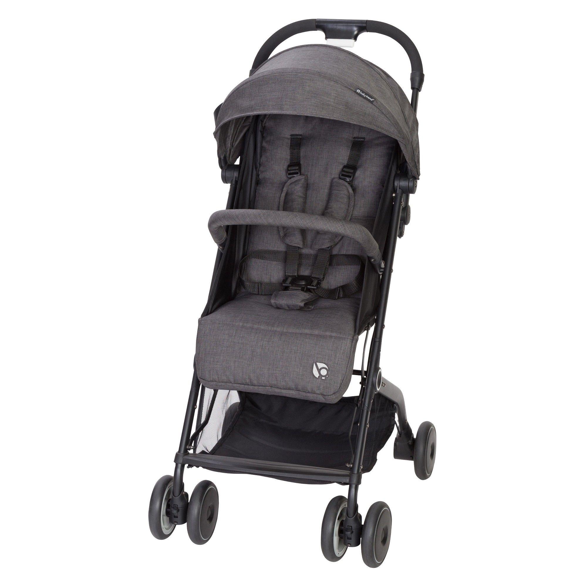 Baby Trend Jetaway Compact Stroller Ash, Gray Umbrella