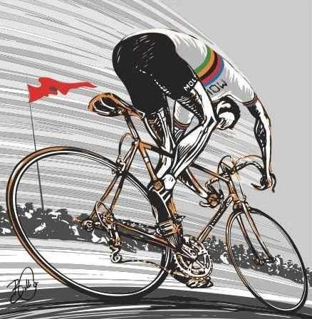 BIKE RACING CYCLING  DIGITAL  ART WALL LARGE IMAGE GIANT POSTER