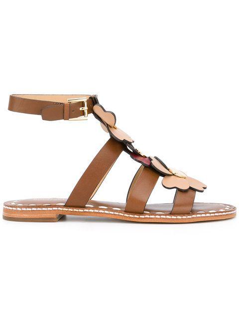 557ebac006b Shop Michael Michael Kors flower appliqué sandals.