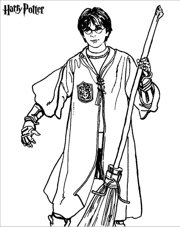 7 Beste Ausmalbilder Harry Potter zum Ausdrucken | Harry ...