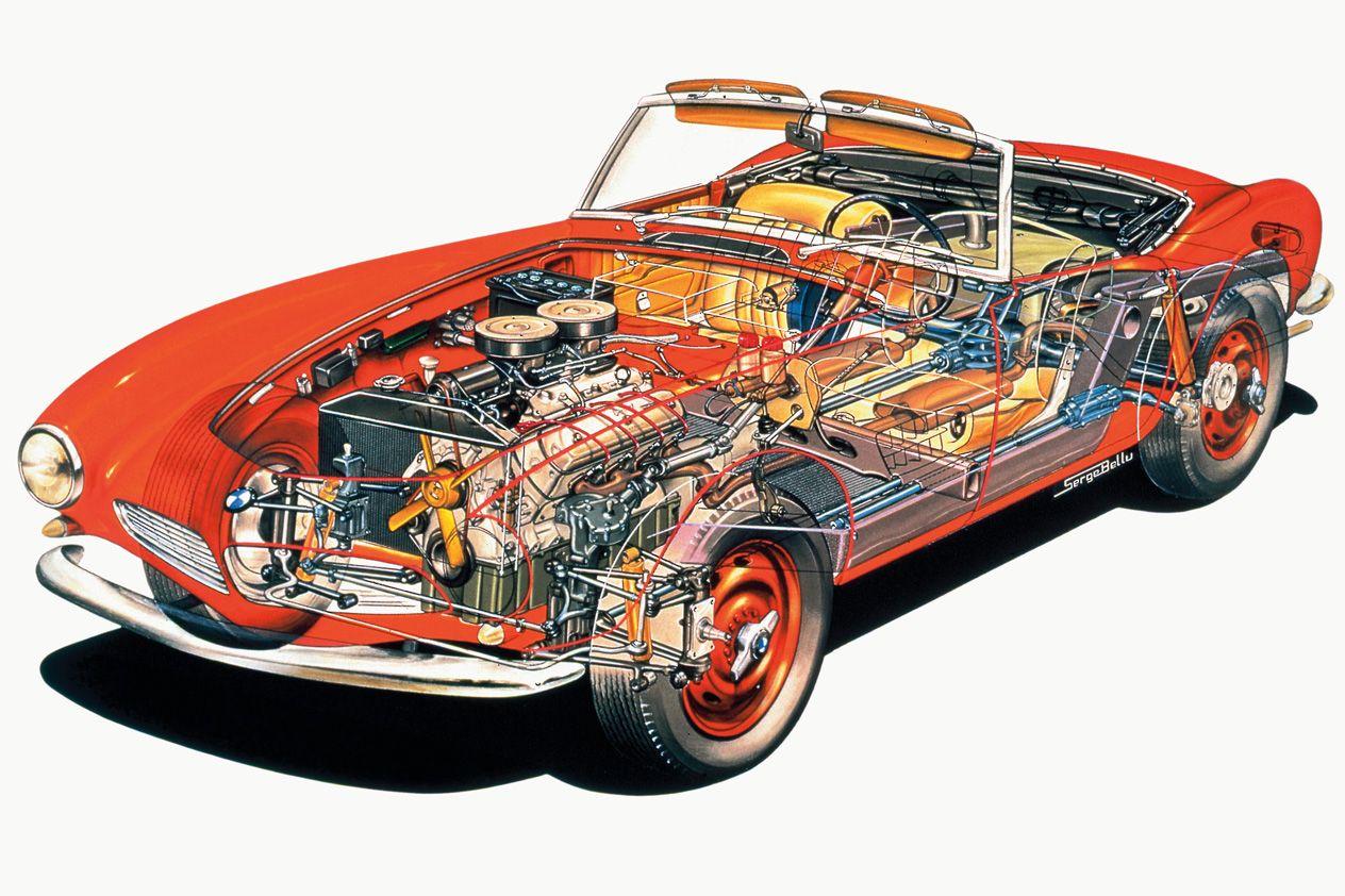 1955 BMW 507 Cutaway by Serge Bellu | Cars and trucks | Pinterest ...