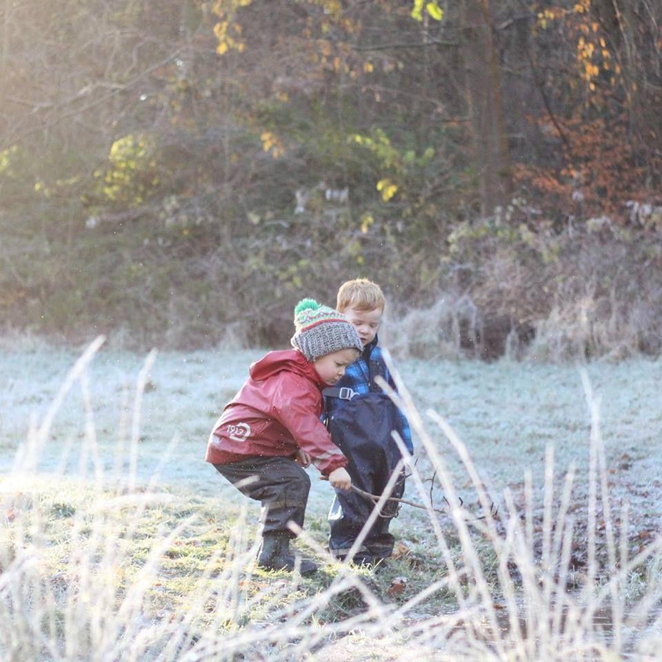 Asilo nel bosco inverno