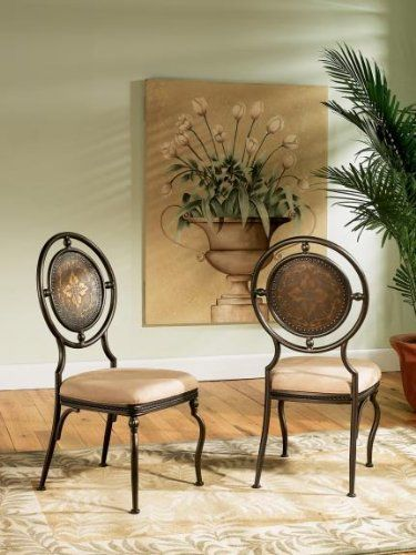 Powell Basil Antique Brown Dining Side Chair With 2 Piece In 1 Carton Powell