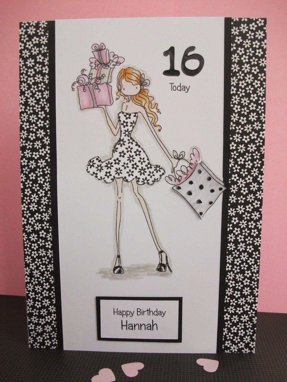 16th Birthday Card Girl sixteen birthday Card