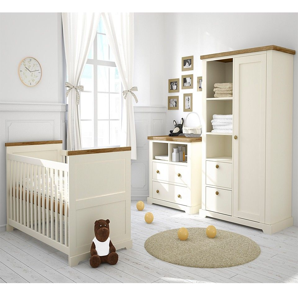 Baby room charming ribbons on white drapes of wooden glass windows at baby nursery which is using white interior decor and modern baby furniture set awesome