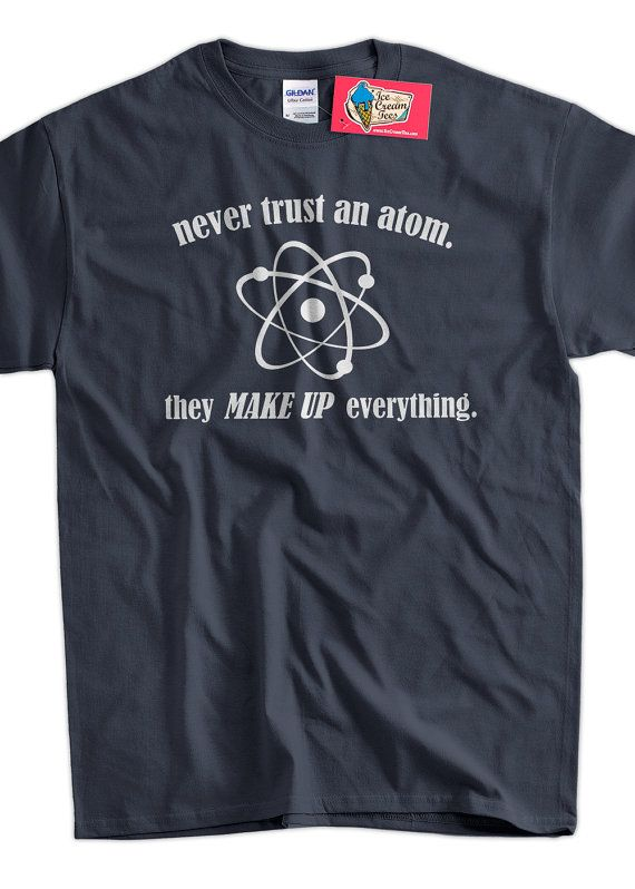 Women Ladies Science T-Shirt Think Like A Proton Geeks Nerds Scientists
