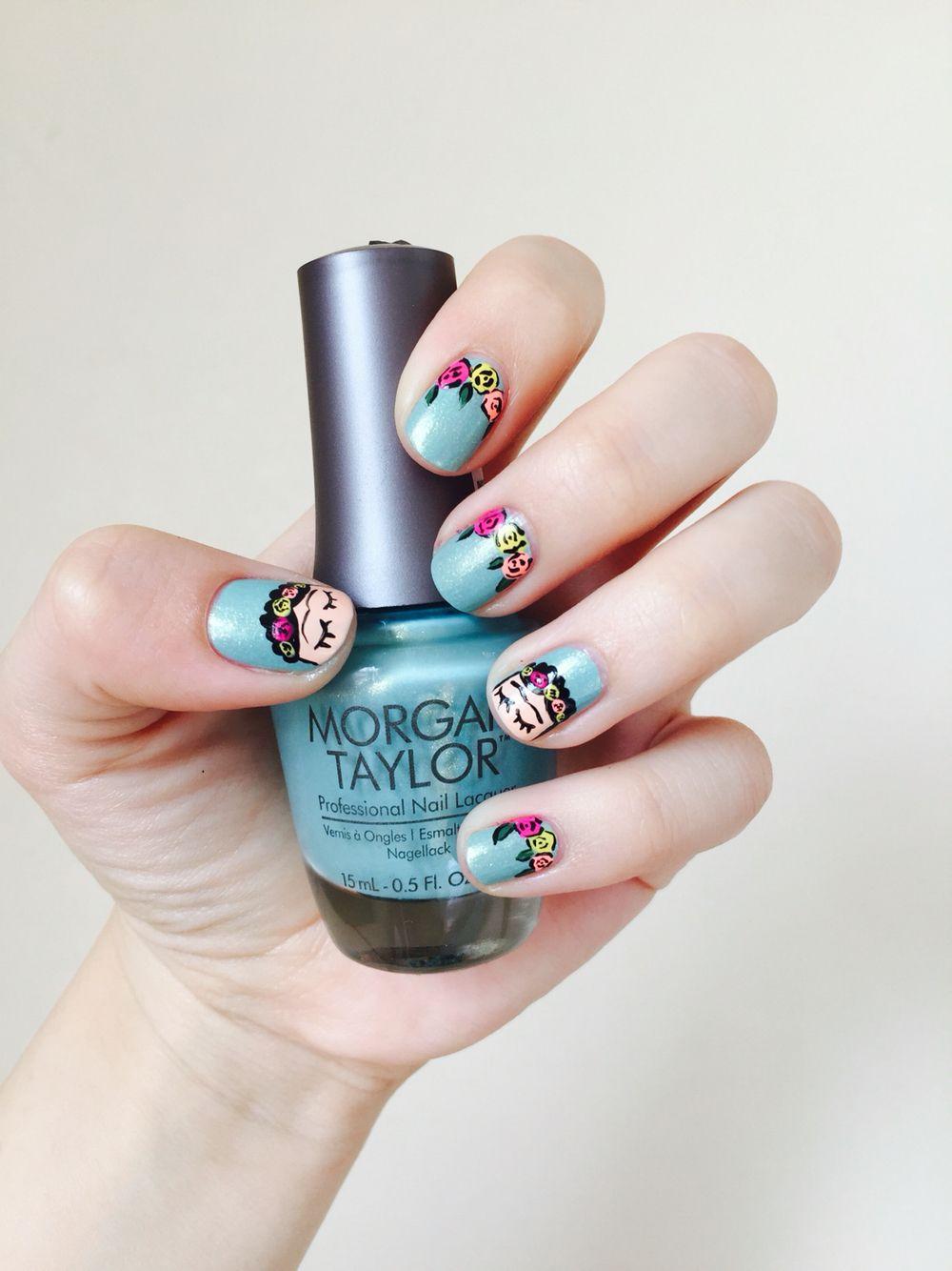 Uñas Frida Kahlo | nails art | Pinterest | Makeup, Manicure and Nail ...