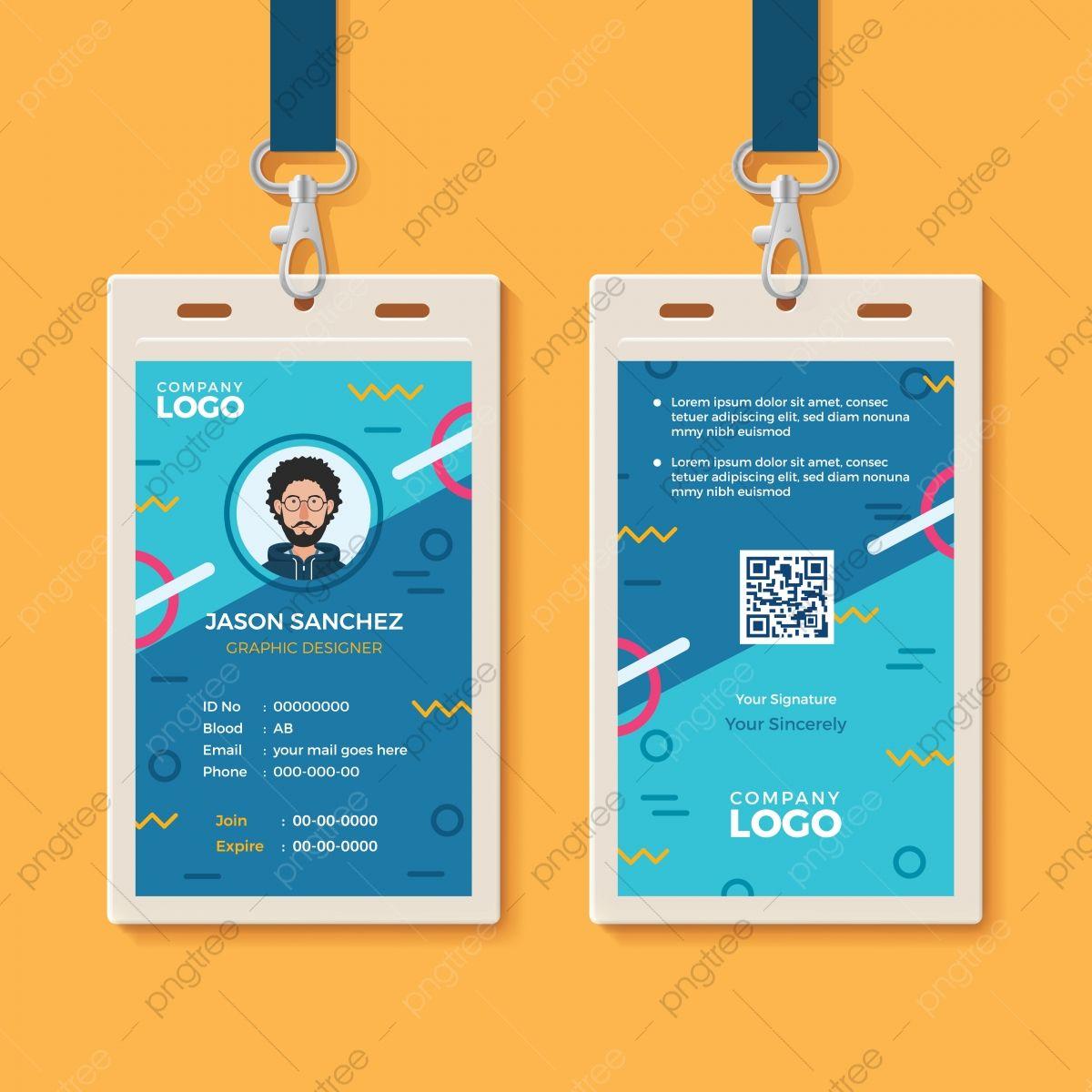 Modern Creative Id Card Template Employee Id Card Id Card Template Free Printable Business Cards