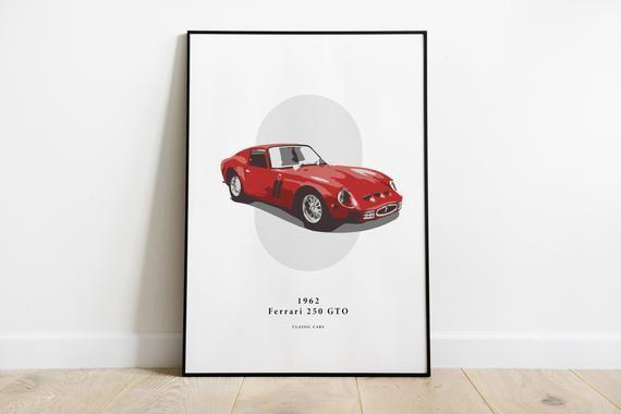 1962 Ferrari 250 GTO – Classic Car Prints – for a car enthusiast     **DOWNLOAD**
