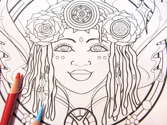 Coloring Pages Of Fancy Alphabet Letters : Earth angel mandala coloring page single page to print and