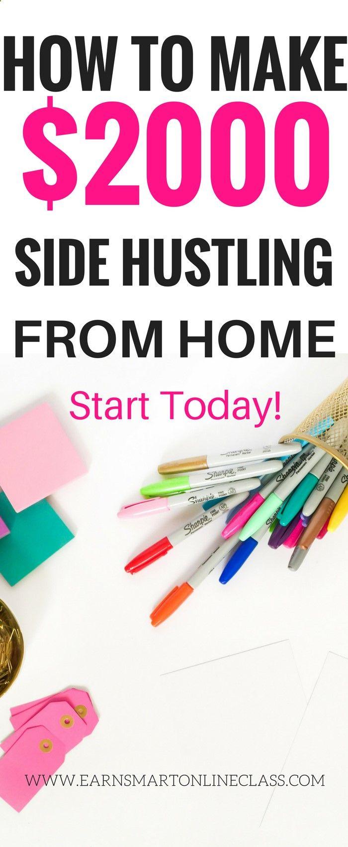 Side hustling  best side hustles  extra money ideas  work from home ...