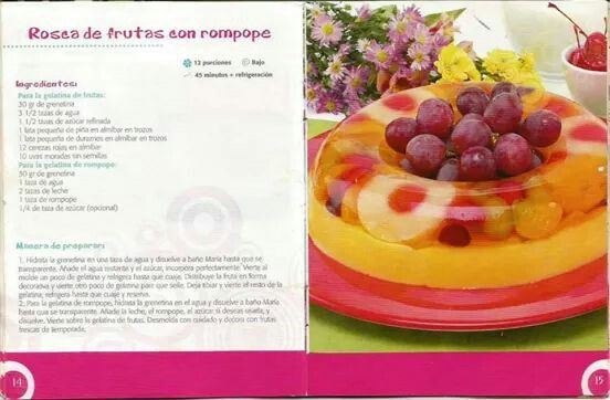 Rosca de frutas con rompope