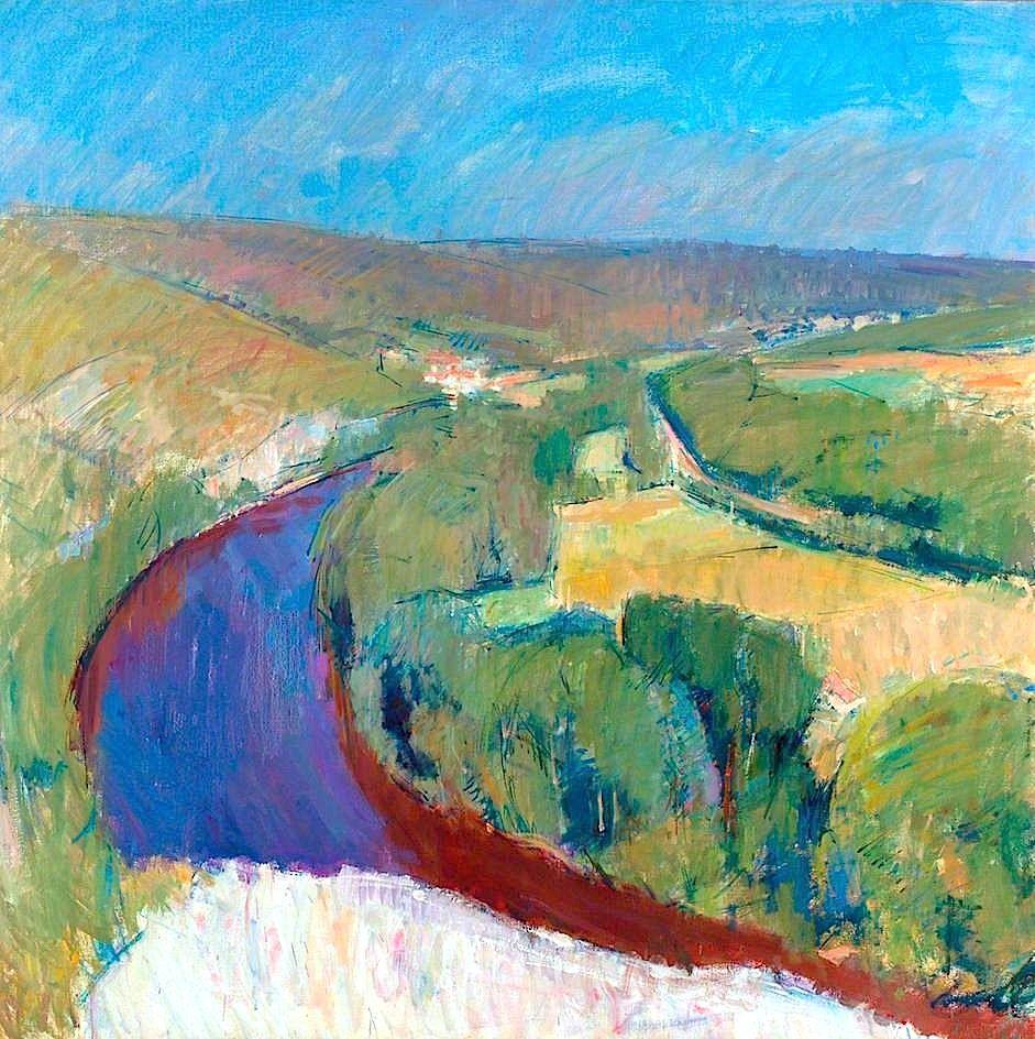 Blue landscape ii by john hoyland abstract landscape