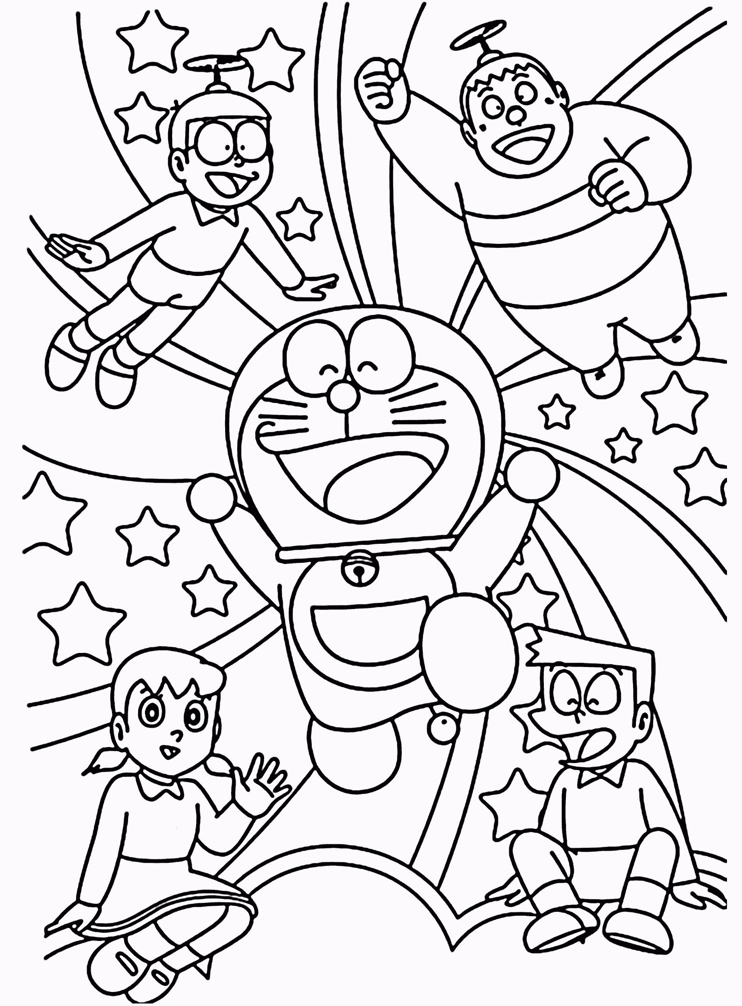 Doraemon Coloring Book Pdf Coloring Pages Allow Kids To Accompany Their Favorite Characters On An A Toddler Coloring Book Coloring Books Love Coloring Pages
