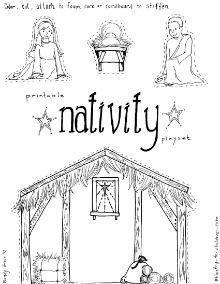 image about Printable Nativity Scenes known as Hire this printable nativity scene toward make a manger participate in