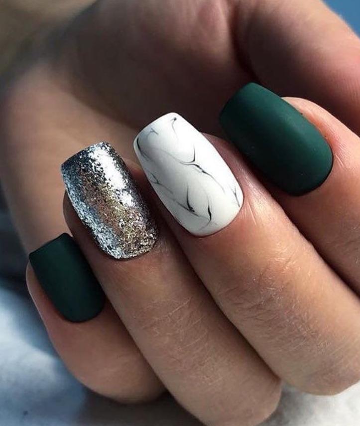 short Square Nails Design; natural square nails design